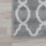 Kép 4/12 - Szőnyeg, világosszürke/minta elefántcsont, 57x90, DESTA