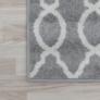 Kép 12/12 - Szőnyeg, világosszürke/minta elefántcsont, 160x235, DESTA