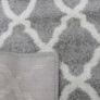 Kép 3/12 - Szőnyeg, világosszürke/minta elefántcsont, 57x90, DESTA