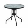 Kép 1/14 - Étkezőasztal fekete acél edzett üveg BORGEN TYP 2