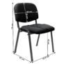 Kép 2/2 - Irodai szék, fekete, ISO 2 NEW