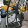 Kép 18/21 - Függő dupla fotel, szürke/világosszürke, DALVEA NEW