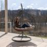 Kép 15/21 - Függő dupla fotel, szürke/világosszürke, DALVEA NEW