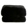 Kép 1/8 - Szőrmés pléd fekete 150x170 RABITA TYP 1