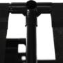 Kép 14/20 - Többfunkciós polcállvány, fekete, EFREN