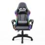 Kép 8/9 - Irodai/gamer szék RGB LED háttérvilágítással, fekete, MAFIRO