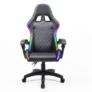 Kép 7/9 - Irodai/gamer szék RGB LED háttérvilágítással, fekete, MAFIRO