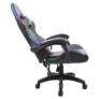 Kép 6/9 - Irodai/gamer szék RGB LED háttérvilágítással, fekete, MAFIRO