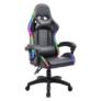 Kép 1/9 - Irodai/gamer szék RGB LED háttérvilágítással, fekete, MAFIRO