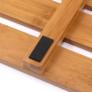 Kép 7/7 - Csúszásgátló szőnyeg a fürdőszobába, természetes lakkozott bambusz, KLERA