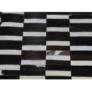 Kép 1/9 - Luxus bőrszőnyeg, barna /fekete/fehér, patchwork, 141x200, bőr TIP 6