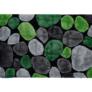 Kép 1/8 - Szőnyeg zöld szürke fekete 140x200 PEBBLE TYP 1