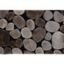 Kép 1/10 - Szőnyeg barna fekete 200x300 PEBBLE TYP 2