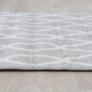 Kép 1/12 - Szőnyeg világosszürke minta elefántcsont 57x90 DESTA