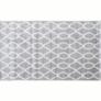 Kép 1/11 - Szőnyeg világosszürke minta elefántcsont 100x150 DESTA