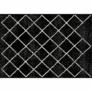 Kép 1/3 - Szőnyeg, fekete/minta, 67x120 cm, MATES TYP 1