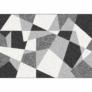 Kép 1/3 - Szőnyeg, fekete/szürke/fehér, 67x120, SANAR