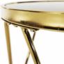 Kép 9/13 - Sarok/Kisasztal, gold króm arany/fekete, VALERO
