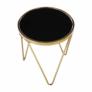 Kép 5/13 - Sarok/Kisasztal, gold króm arany/fekete, VALERO