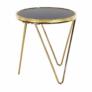 Kép 3/13 - Sarok/Kisasztal, gold króm arany/fekete, VALERO