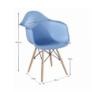 Kép 4/9 - Fotel, kék/bükk, DAMEN NEW