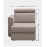 Kép 2/5 - Tárolási terület OTT 1B ZP rendelésre  luxus ülőgarnitúrához, bézs, bal, MARIETA
