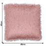 Kép 2/8 - Párna, rózsaszín/arany-rózsaszín, 45x45, FOXA TYP 3