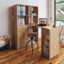 Kép 2/4 - PC asztal könyvespolccal, tölgy sonoma, MINESON