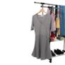 Kép 7/21 - Görgős ruhaálvány, rozsdamentes fém+fekte műanyag, SEBO