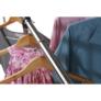 Kép 9/21 - Görgős ruhaálvány, rozsdamentes fém+fekte műanyag, SEBO