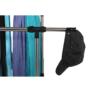 Kép 12/21 - Görgős ruhaálvány, rozsdamentes fém+fekte műanyag, SEBO