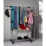 Kép 21/21 - Görgős ruhaálvány, rozsdamentes fém+fekte műanyag, SEBO