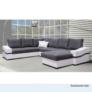 Kép 4/4 - 1-személyes kanapé, fehér/szürke, OREGON 1SED-06