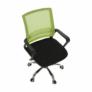 Kép 2/16 - Irodai szék, háló zöld/fekete anyag, APOLO