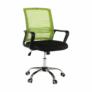 Kép 3/16 - Irodai szék, háló zöld/fekete anyag, APOLO