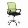 Kép 4/16 - Irodai szék, háló zöld/fekete anyag, APOLO