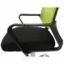Kép 12/16 - Irodai szék, háló zöld/fekete anyag, APOLO