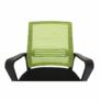 Kép 15/16 - Irodai szék, háló zöld/fekete anyag, APOLO