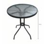 Kép 7/14 - Étkezőasztal, fekete acél/edzett üveg, BORGEN TYP 2