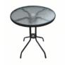Kép 4/14 - Étkezőasztal, fekete acél/edzett üveg, BORGEN TYP 2