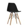 Kép 2/25 - Modern szék, bükk+ fekete, PC-015, CINKLA 2 NEW