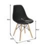 Kép 17/25 - Modern szék, bükk+ fekete, PC-015, CINKLA 2 NEW