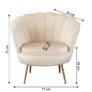Kép 2/3 - Fotel Art-deco stílusban, bézs Velvet anyag/gold chróm-arany, NOBLIN