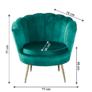 Kép 2/4 - Fotel Art-deco stílusban, smaragd Velvet anyag/gold króm-arany, NOBLIN