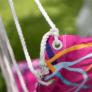 Kép 5/19 - Függőfotel, rózsaszín/ minta, KEROL
