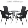 Kép 10/14 - Étkezőasztal, fekete acél/edzett üveg, BORGEN TYP 2