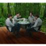 Kép 14/14 - Étkezőasztal, fekete acél/edzett üveg, BORGEN TYP 2