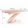 Kép 3/3 - Étkezőasztal meghosszabbítható, sonoma tölgyfa, BONET