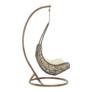 Kép 9/14 - Függő fotel, barna/krém, KALEA NEW