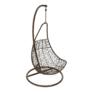 Kép 10/14 - Függő fotel, barna/krém, KALEA NEW